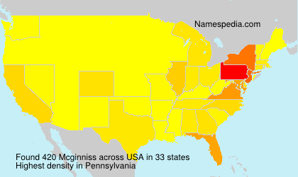 Surname Mcginniss in USA