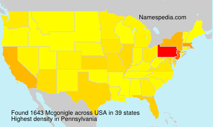 Surname Mcgonigle in USA
