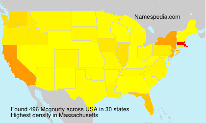Surname Mcgourty in USA