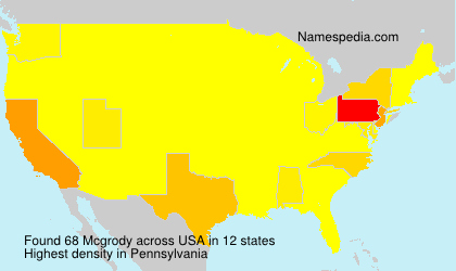 Surname Mcgrody in USA