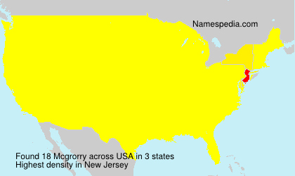 Surname Mcgrorry in USA