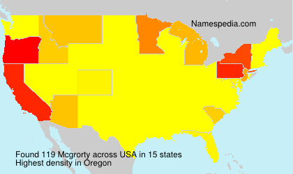 Surname Mcgrorty in USA