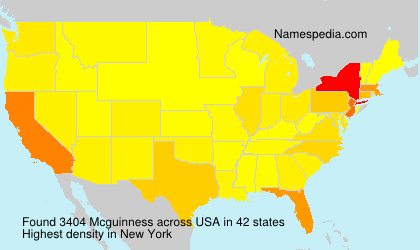 Surname Mcguinness in USA