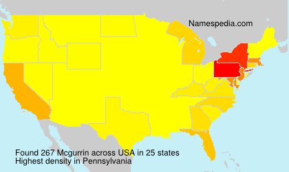 Surname Mcgurrin in USA