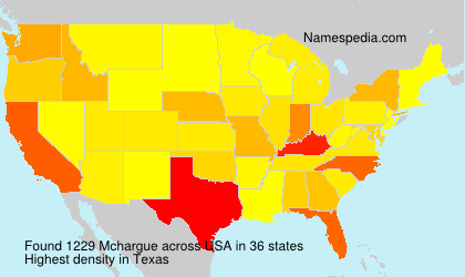 Surname Mchargue in USA