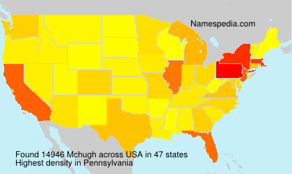Surname Mchugh in USA