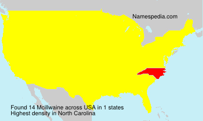 Surname Mcillwaine in USA