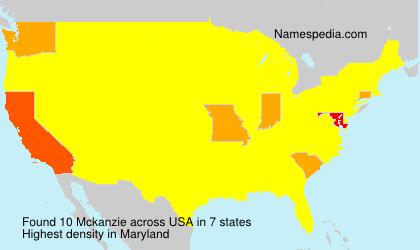 Familiennamen Mckanzie - USA