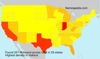 Surname Mckeand in USA