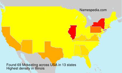 Surname Mckeating in USA