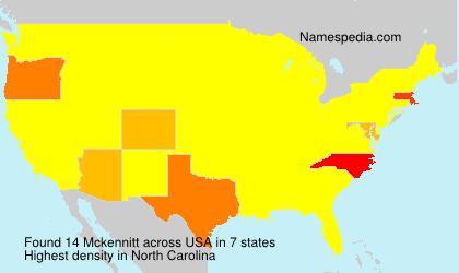 Familiennamen Mckennitt - USA