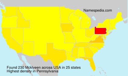 Surname Mcklveen in USA