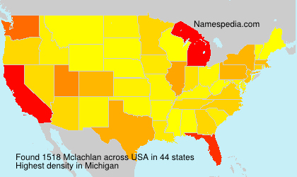 Surname Mclachlan in USA