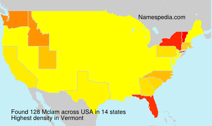 Surname Mclam in USA