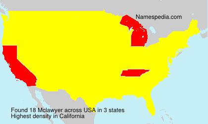 Familiennamen Mclawyer - USA