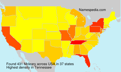 Surname Mcleary in USA