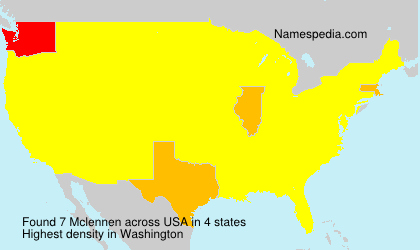 Surname Mclennen in USA