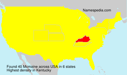 Surname Mcmaine in USA