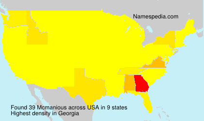 Surname Mcmanious in USA