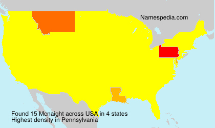 Surname Mcnaight in USA