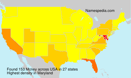 Surname Mcney in USA