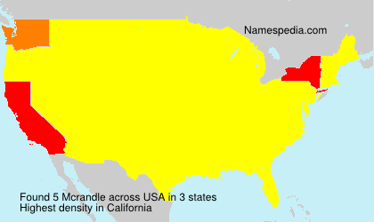 Surname Mcrandle in USA
