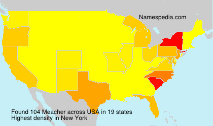 Surname Meacher in USA