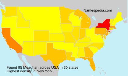 Surname Meaghan in USA