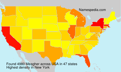 Surname Meagher in USA