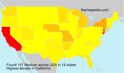 Surname Meahan in USA