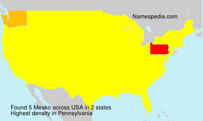 Surname Meako in USA