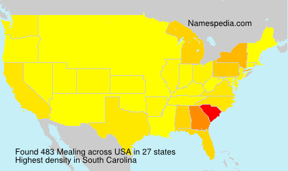 Surname Mealing in USA