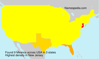 Surname Meance in USA