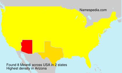 Familiennamen Meardi - USA