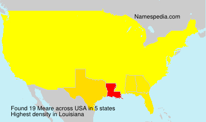 Surname Meare in USA