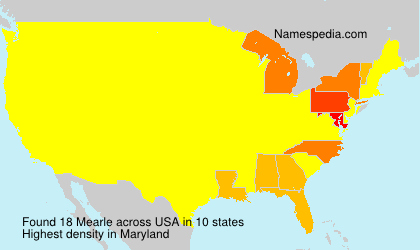 Surname Mearle in USA