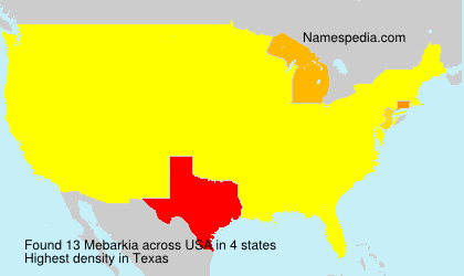 Surname Mebarkia in USA
