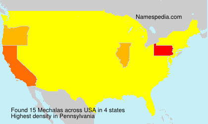 Surname Mechalas in USA