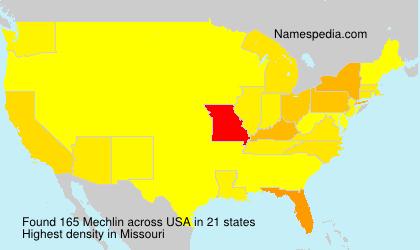 Surname Mechlin in USA