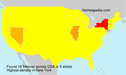 Surname Mecner in USA