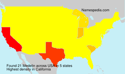 Surname Medelin in USA