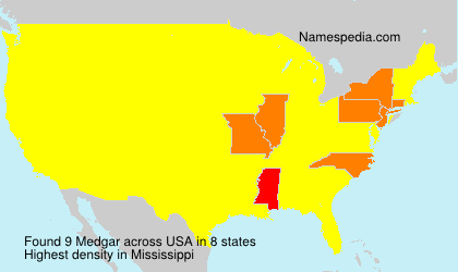 Surname Medgar in USA