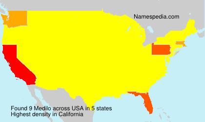 Surname Medilo in USA