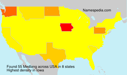 Familiennamen Medlang - USA