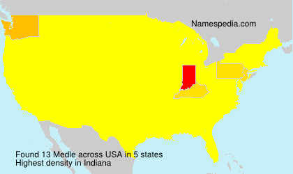 Surname Medle in USA