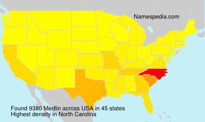Familiennamen Medlin - USA