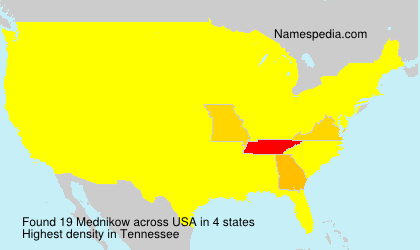 Surname Mednikow in USA