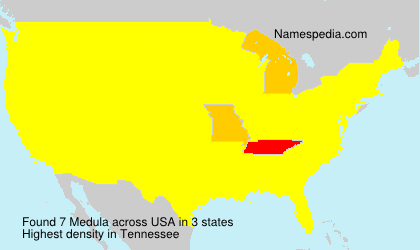 Surname Medula in USA