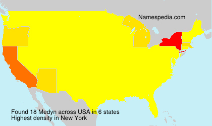 Surname Medyn in USA