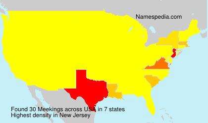 Surname Meekings in USA